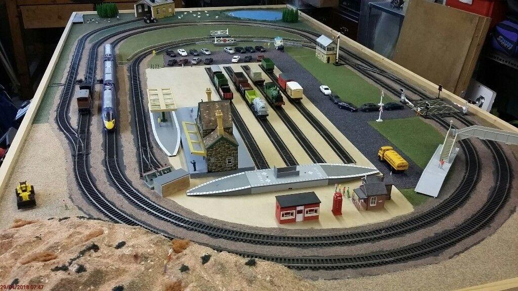 Hornby Electric Train Set, Blue Rapier, Smokey Joe, Folding Table ...
