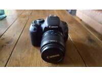 Canon 600d 3 lenses mint
