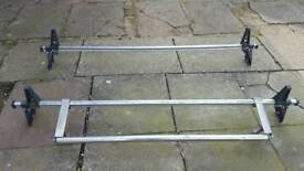 Rhino roof bars with roller ford transit swb