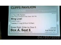 BING LIVE! tickets cliffs pavilion