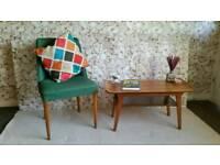 Myers mid century retro sleigh top teak coffee table ONO