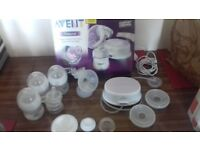 Philips Avent breast pump and accsessories