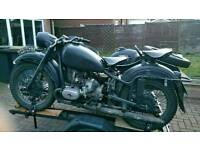 Ural m63 spec motorcycle and sidecar