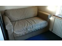 2 Seater Ikea Hagalund Sofa bed 150x85cm- Great for guests at Xmas! Pulls out easily. Understorage