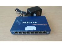 Netgear Prosafe GS108 8 Port Gigabit Network Switch - Acceptable used condition - Fully working