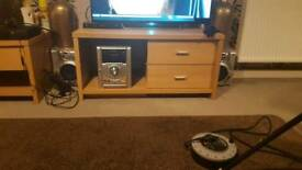 Tv stand and coffee table with 4 drawers