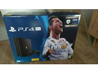 Brand new factory sealed Ps4 Pro 1TB with Fifa 18