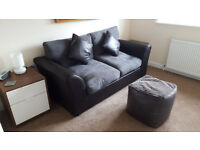 Harley 2 Seater Fabric Sofa Bed - Easy pull out mechanism to set up for overnight guests!