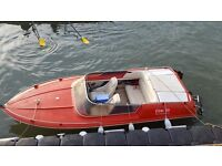 Classic retro 3.0 ltr. Speed boat with trailer
