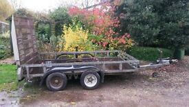 Ifor Williams 3.5 tonne plant trailer, full tailgate