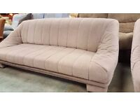 Modern Beige Two and Three Seater Sofa Set in Excellent Condition