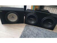 L@@k car amp + 2 bass boxes
