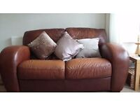 LARGE 2 SEATER QUALITY LEATHER SOFAS