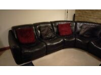Leather Corner Sofa with Chaise