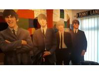 Life size Beatles cardboard cut outs!