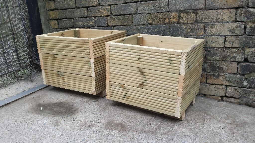 Garden planters made from decking buy sale and trade ads for Garden decking gumtree