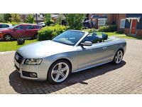 Audi A5 3.0 TDI S Line S Tronic Quattro, Convertible with low mileage and Full Service History