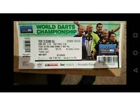 World darts ticket quarter final