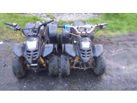 Quad job lot 2 quads, 2 spare running engines, a pit bike