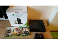 XBOX 360 With Games Controller and Box