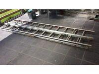 2 triple ladders/1 roof ladder