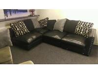 Black corner sofa