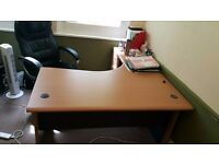 Corner L-shaped Desk with 4 Drawer Pedestal (chair included!)