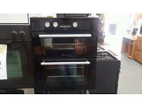 ***BARGAIN***HOTPOINT DOUBLE BLACK INTEGRATED OVEN/CLEAN/FREE DELIVERY SAMEDAY***