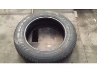 "like new ""event ml609"" 195/65/16 6pr van tyre(never been used on road)"