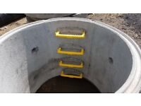 Concrete Chamber Manhole Ring 1800 mm x 500 mm with steps