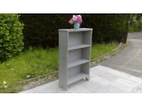 Vintage, Oak bookcase. Shabby Chic, Paris Grey. Delivery Available.