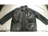 Men's leather jacket Italian made good as new!