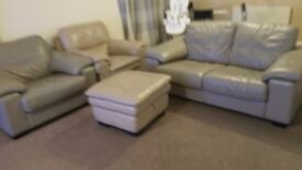 3 Set Leather Suite arm seat chair