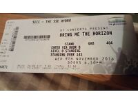 1 x BRING ME THE HORIZON STANDING TICKET SSE HYDRO GLASGOW