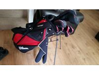 Wilson golf clubs, balls ,towel,glove .all in vgc