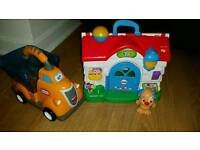 Toys house and truck
