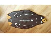 Penguin snow boogie board