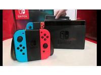 Nintendo Switch - Neon - As new + Zelda