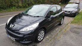 Peugeot 207 HDi (Diesel) 3 Door- Black with FSH