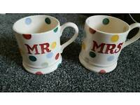 Emma Bridgewater half pint mugs