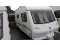 Elddis crown 472 2000 2 berth caravan with full awning