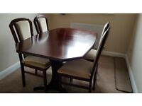 Mahogany Dinning Table and 4 Chairs