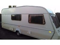 1995 abbey oxford gt 4 berth touring caravan with full awning