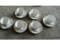 Vintage fine bone china tea set by Royal Grafton . Please see description.