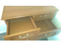 2 x Identical Versailles Cherry 3 + 2 Chest of Draw Units.