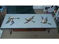 50s 60s mosaic flying ducks table