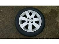 Corsa sxi alloy wheel and tyre 185/55/15