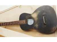 *SOLD * Tonk Bros Electro Acoustic Parlour Guitar with Packing Crate