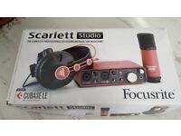 Focusrite scarlett studio - recording equipment