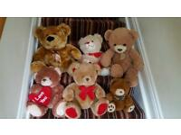 Large traditional teddy bears job lot